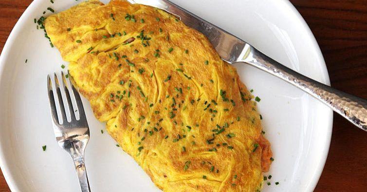 Esta omelete é saborosa e aliada da dieta