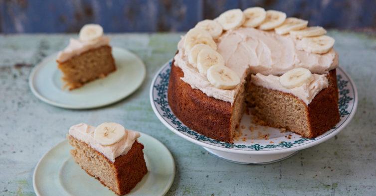 Este bolo de tapioca com banana é o lanche perfeito