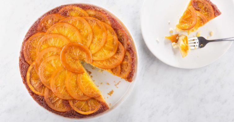 Bolo de tangerina sem glúten e sem açúcar