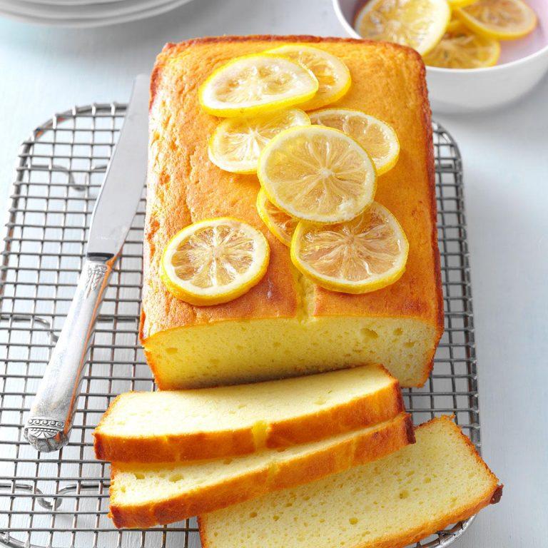 O bolo de limão (low carb) que pode comer sem estragar a dieta