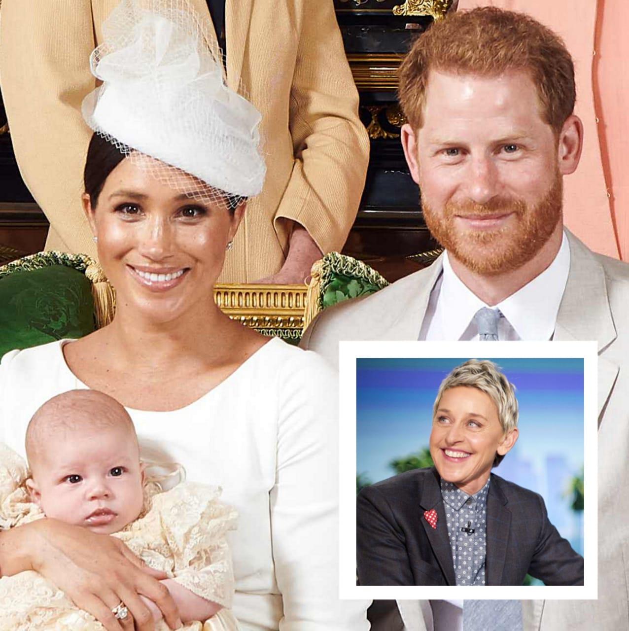 Ellen DeGeneres visita Meghan Markle e revela detalhe especial sobre a aparência do bebé real