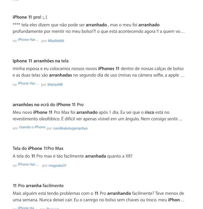 Nem todos os utilizadores parecem satisfeitos com o novo iPhone 11