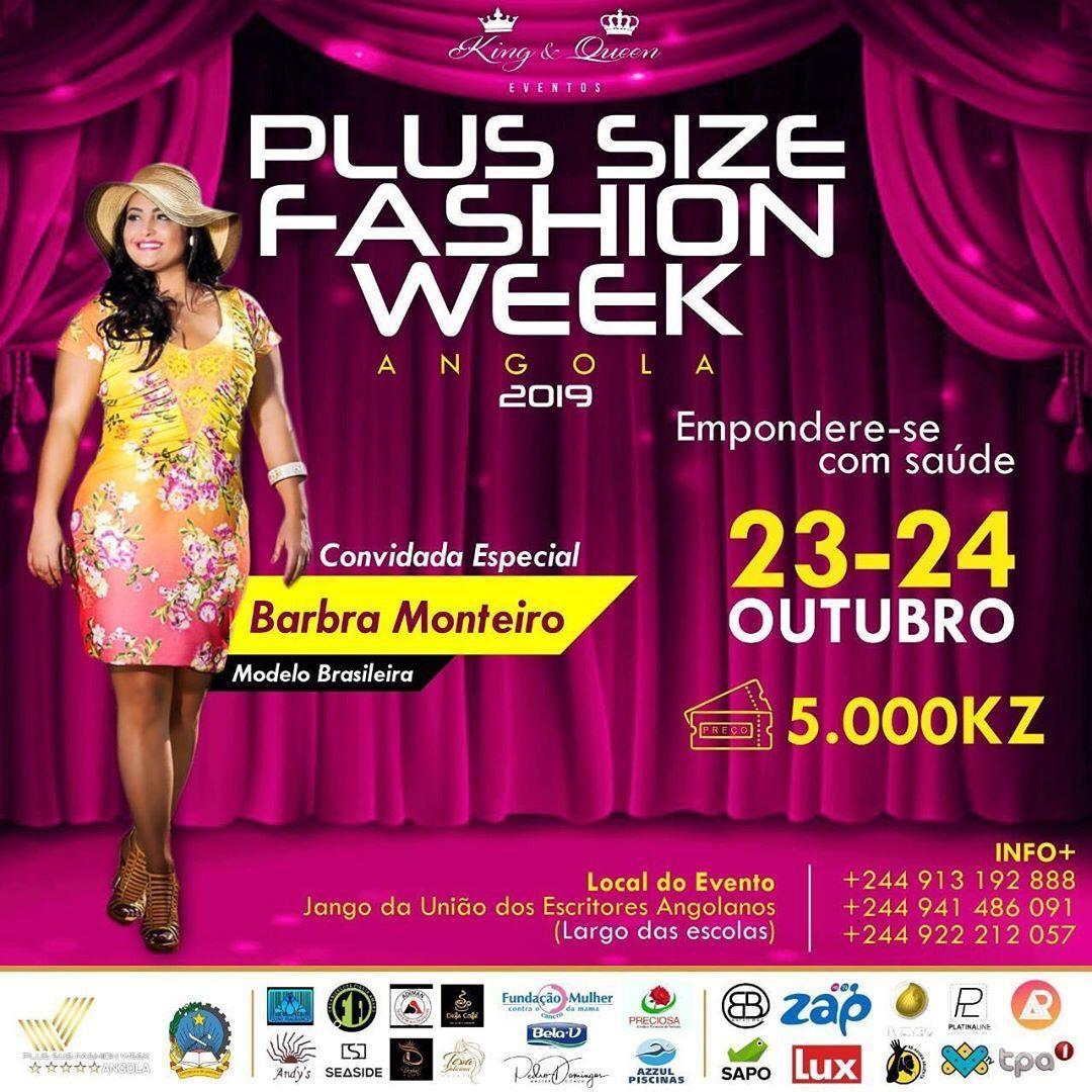 Plus Size Fashion Week Angola tem convidada especial.