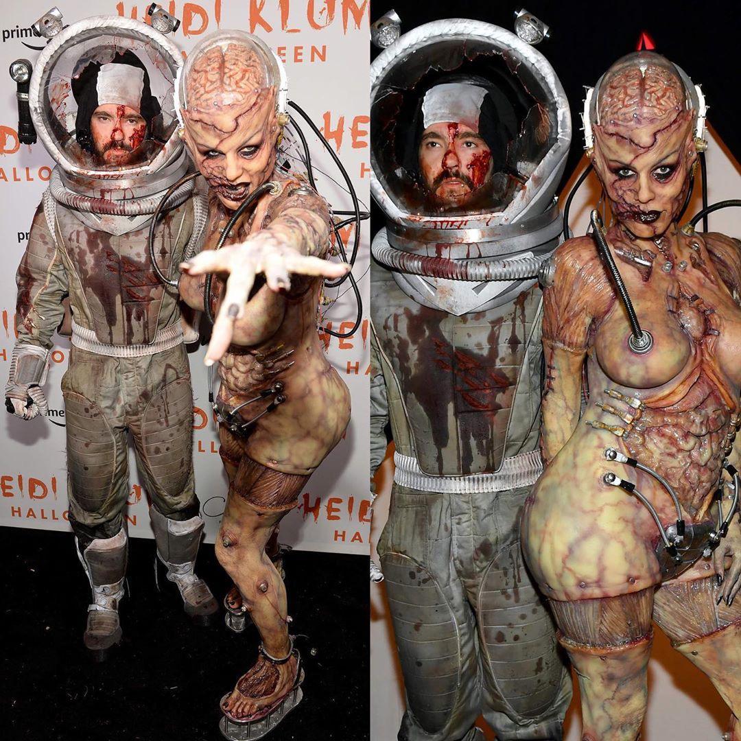 Heidi Klum leva o Halloween muito a sério