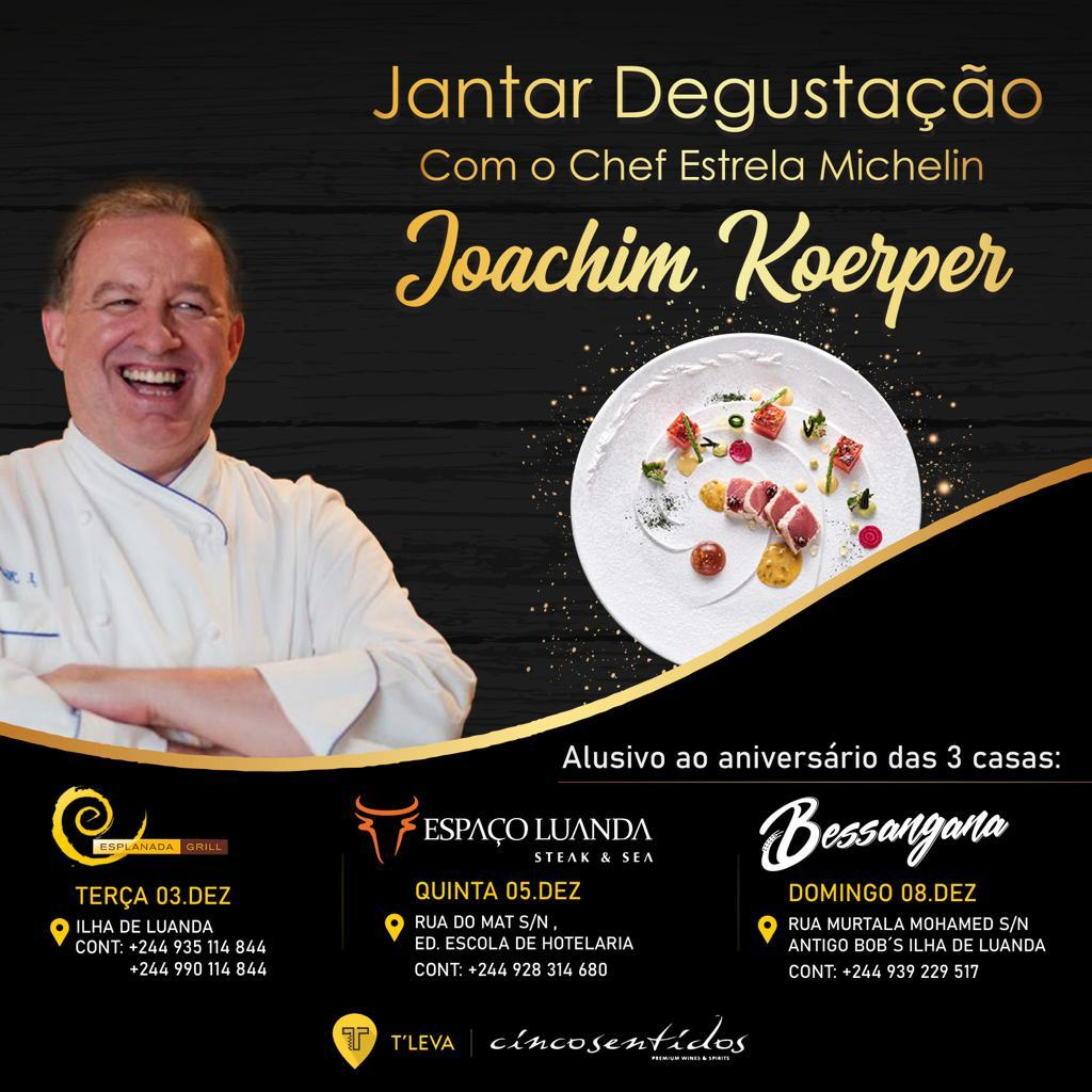 Jantar Degustação com o Chef Estrela Michelin: Joachim Koerper