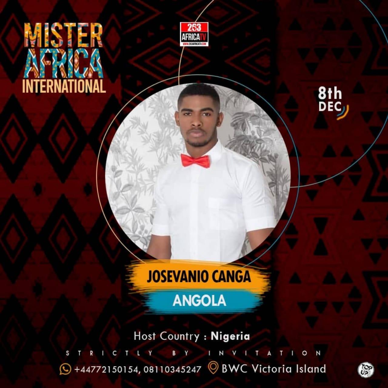 """Mister Angola 2019 participa no concurso """"Mister África Internacional"""""""