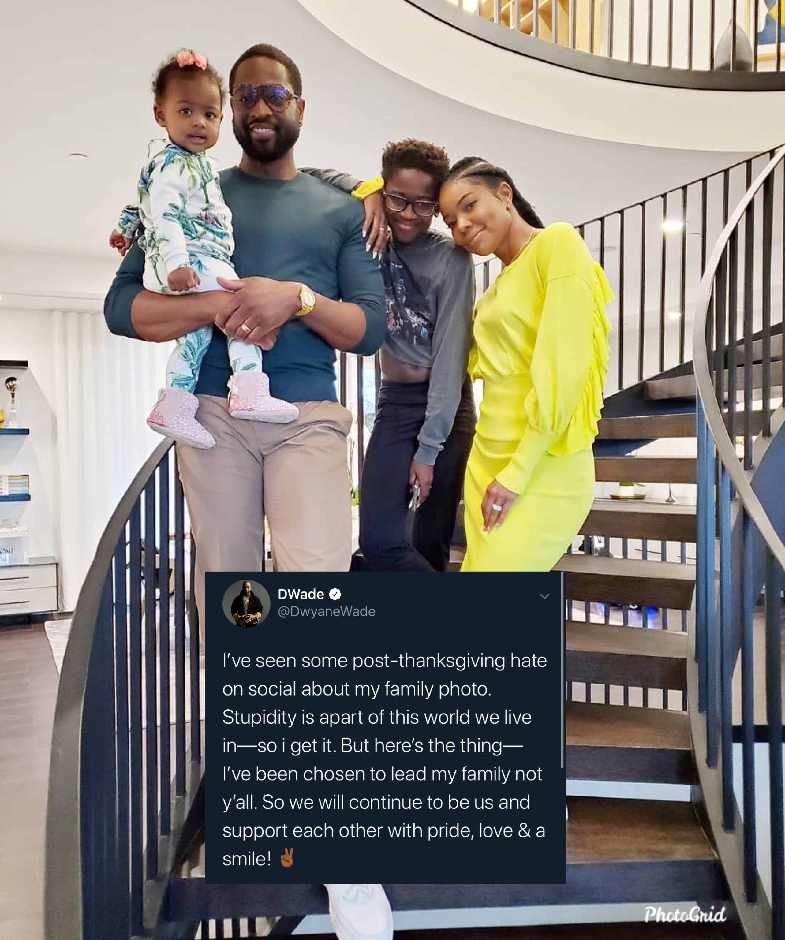 Dwayne Wade defende o filho após comentários negativos