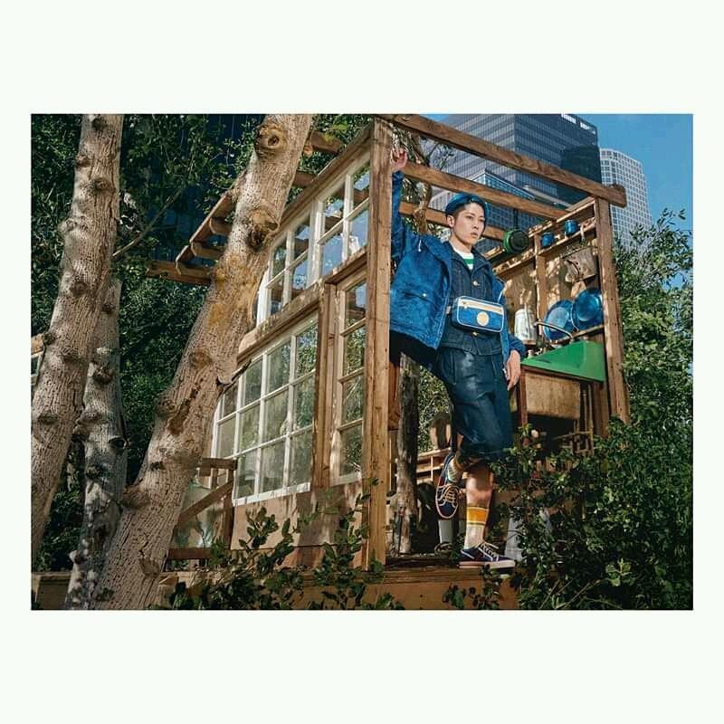 Jane Fonda em nova campanha da Gucci com materiais sustentáveis