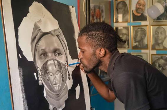 A arte dos retratos realistas por Virgílio dos Santos