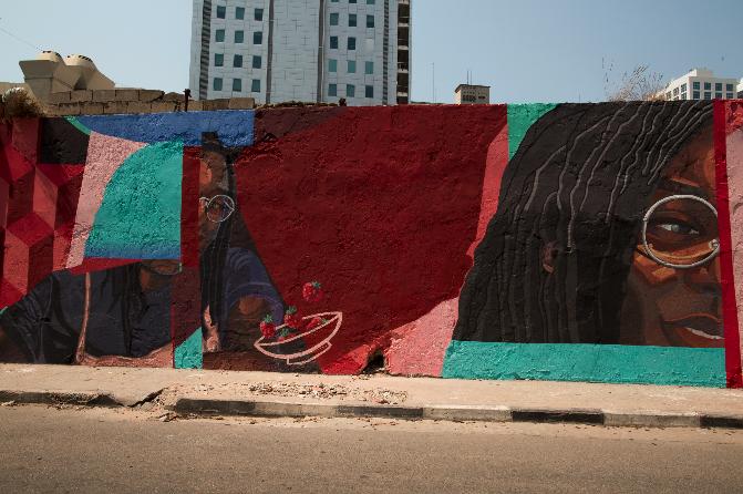 Luanda ficou culturalmente mais bonita com o aparecimento de um mural de arte urbana