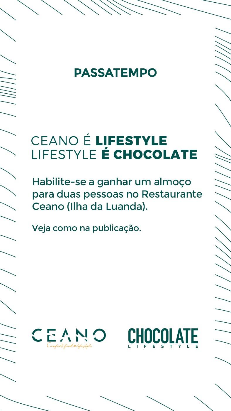 "Passatempo ""Ceano é Lifestyle, Lifestyle é Chocolate"