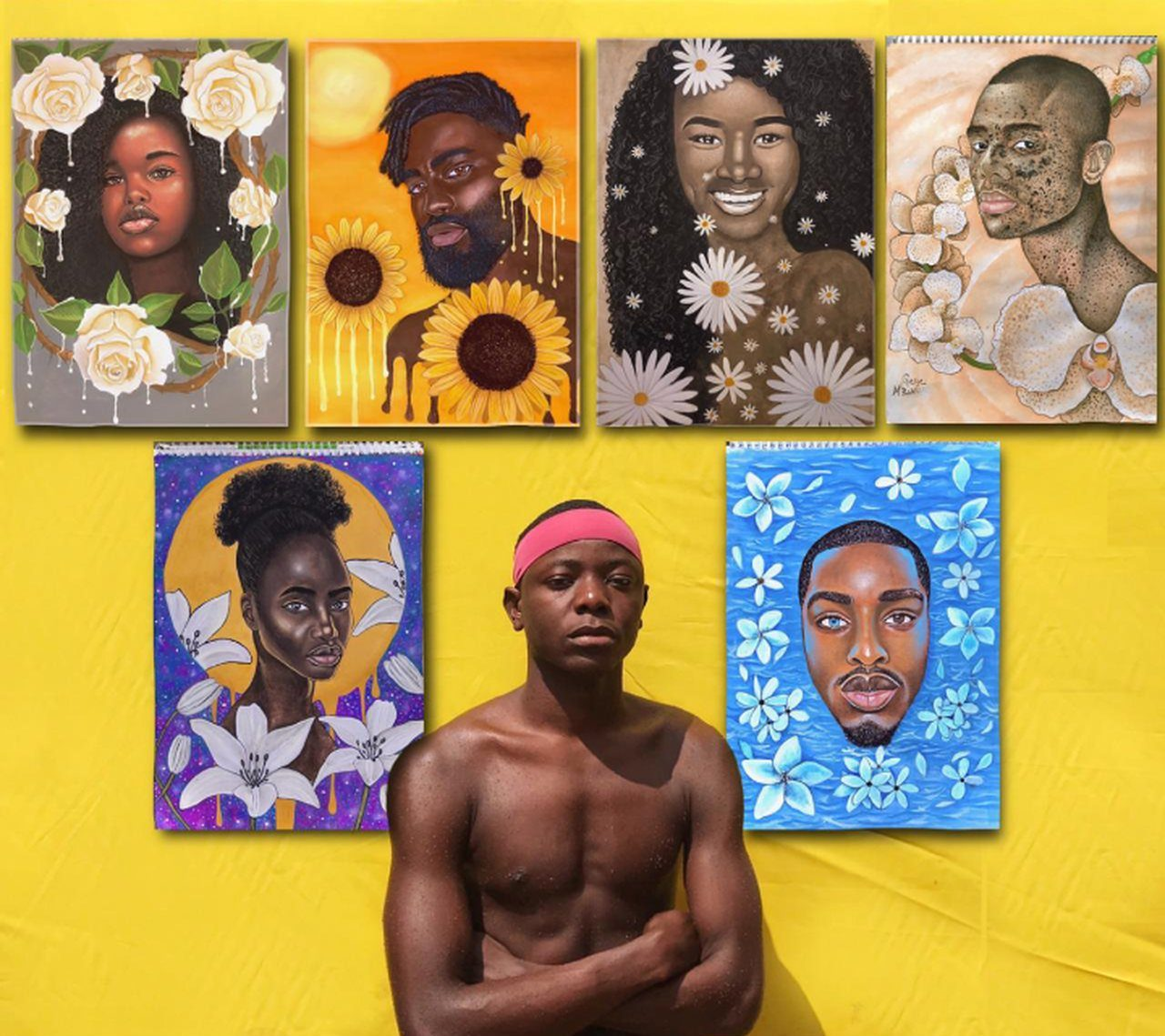 """""""De pretos para pretos"""", projecto do artista plástico Gege M'bakudi"""
