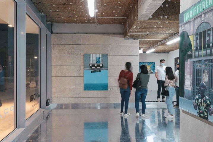 """Exposição """"O Eterno Provisório"""", do artista Suekí, exposta no Prata Riverside Village em Portugal"""