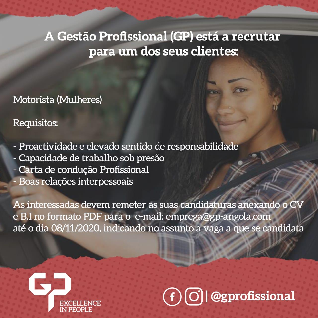 A Gestão Profissional (GP) está a recrutar para um dos seus clientes