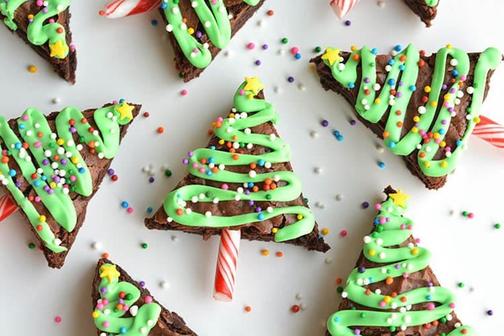 Brownies de Natal simples e rápido de fazer