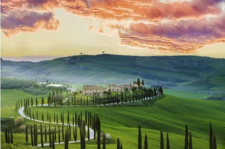 Faça turismo rural em Itália, na Toscana