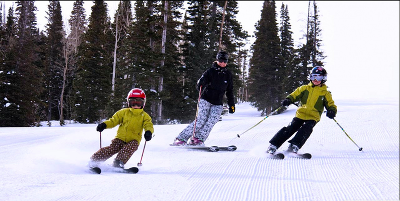 E as crianças? Leve os pequenos a esquiar