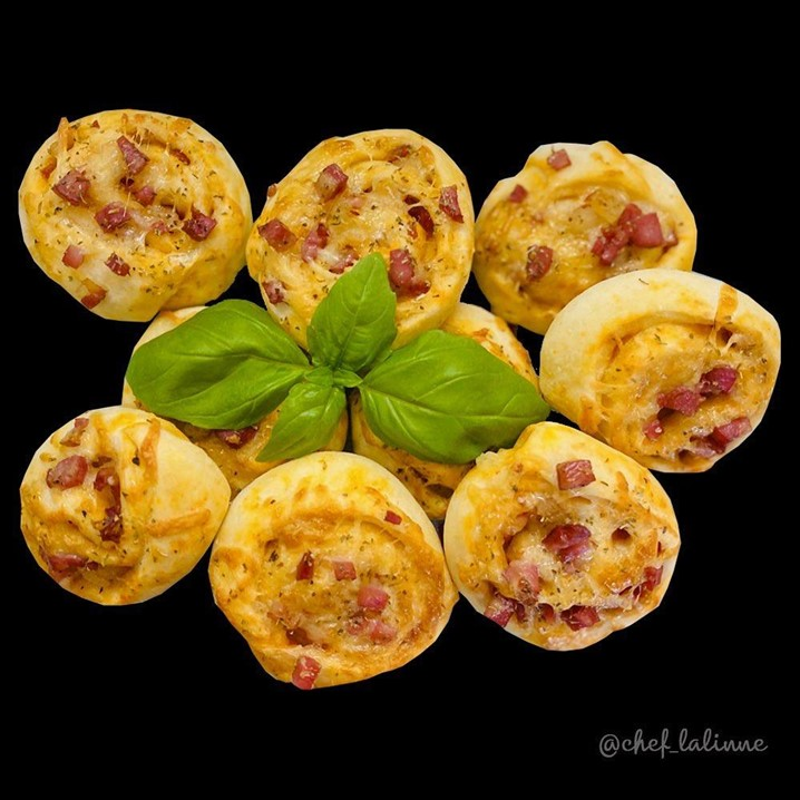 Rolinhos de Pizza integral: sugestão da chef Lalinne