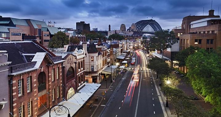 Em Sydney, não deixe de visitar o famoso distrito de The Rocks