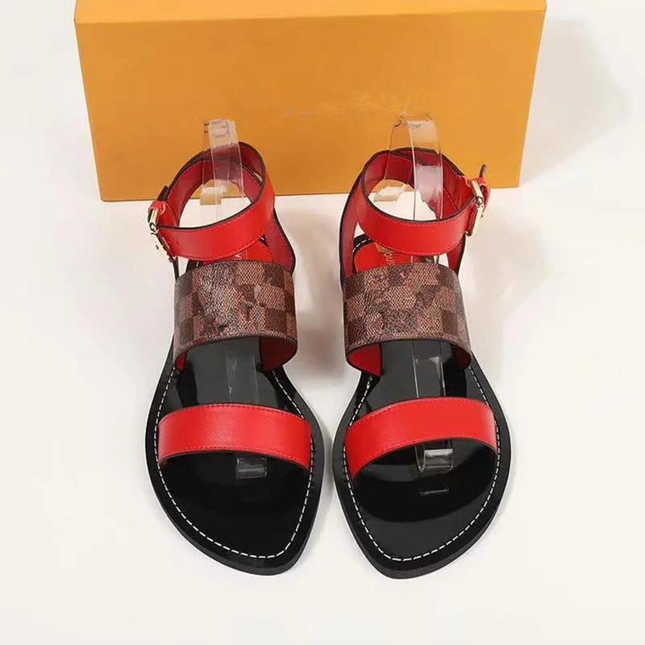 Sandálias femininas confortáveis da Louis Vuitton