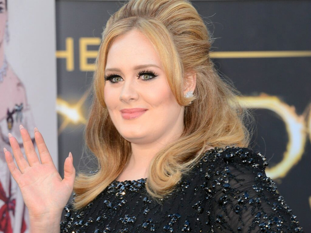 Adele e os seus looks pretos