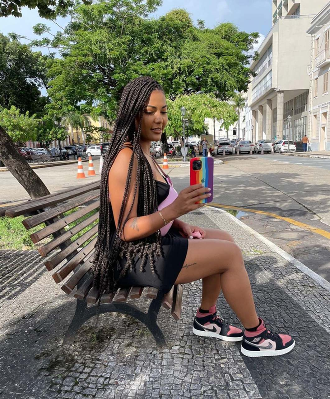 Juddy da Conceição de férias no Brasil