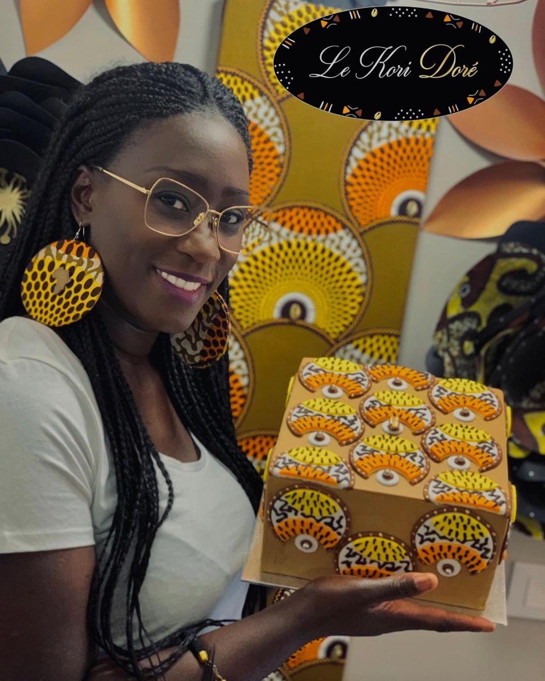 Uma combinação de arte e design Africano em bolos